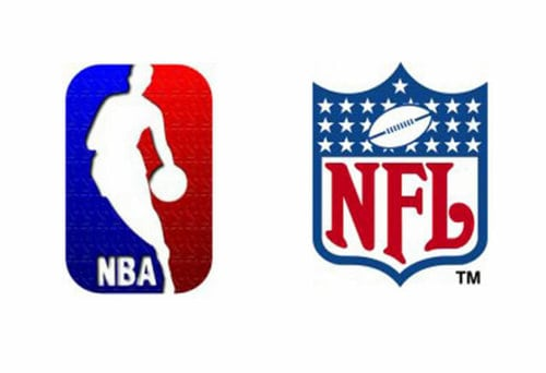 NBA and NFL