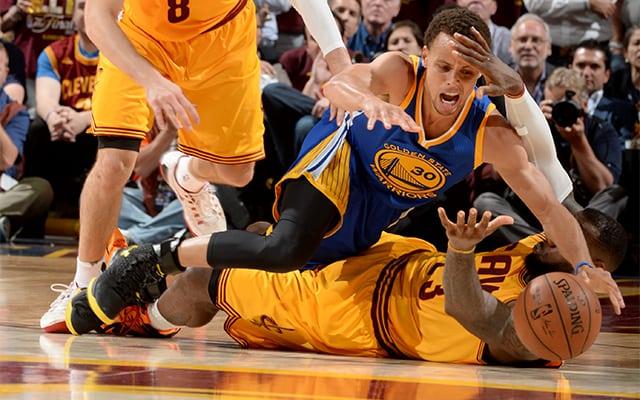 NBA Says LeBron\u0027s \u0027Slide-Tackle\u0027 Of Steph Curry Was Not A Foul