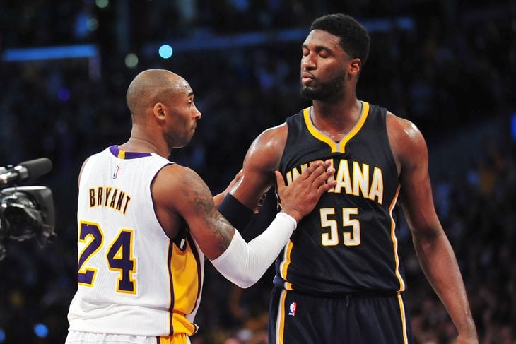 Kobe Bryant and Roy Hibbert