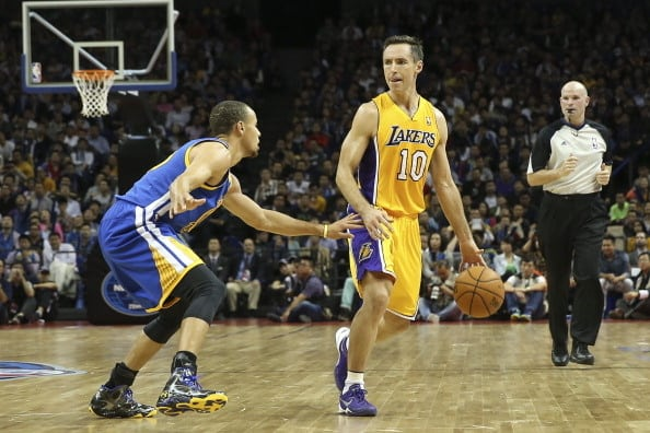 Stephen Curry and Steve Nash
