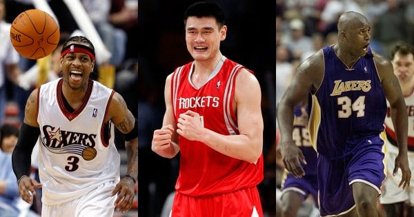 Allen Iverson, Yao Ming, Shaquille O'Neal