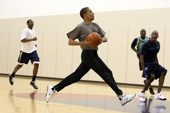 Barack Obama, Pickup ball