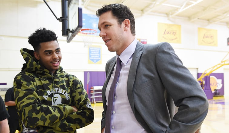 Luke Walton, D'Angelo Russell, Los Angeles Lakers