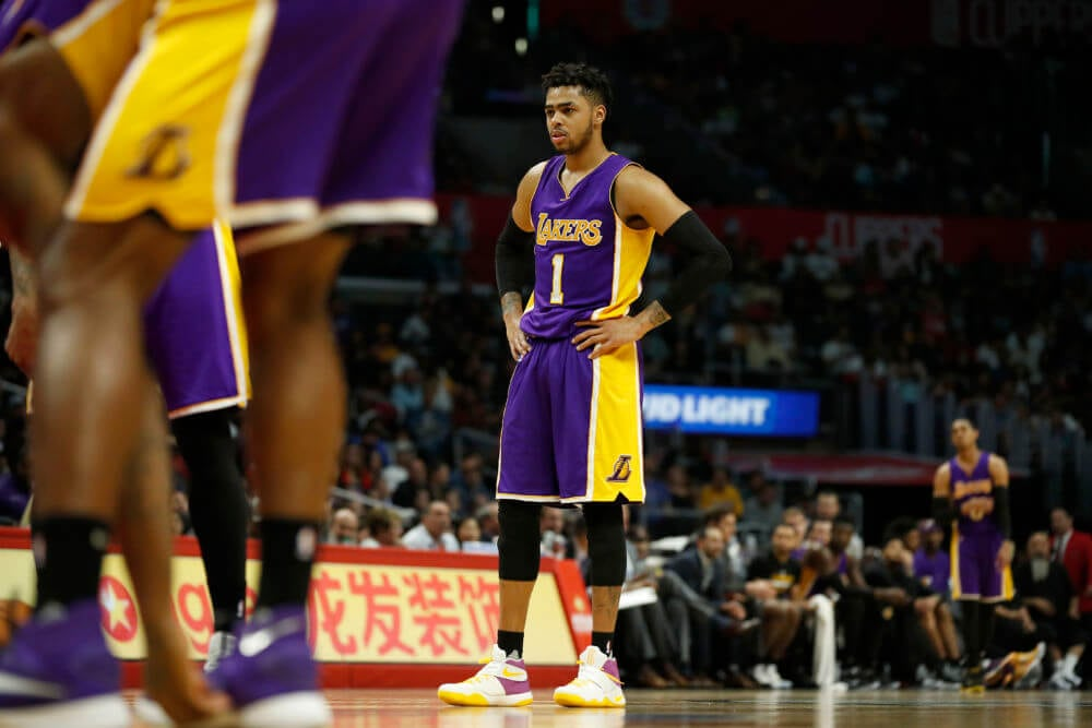 D'Angelo Russell, Los Angeles Lakers, Brooklyn Nets