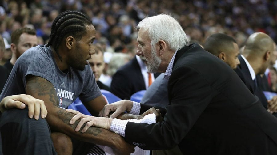 Kawhi Leonard and Gregg Popovich coachability
