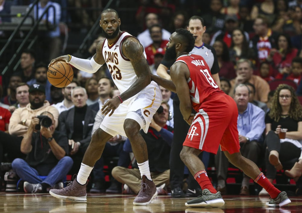 NBA LeBron James and James Harden